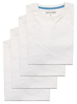 Heren t-shirts km Gentlemen 4-pak ronde hals M t/m XXL