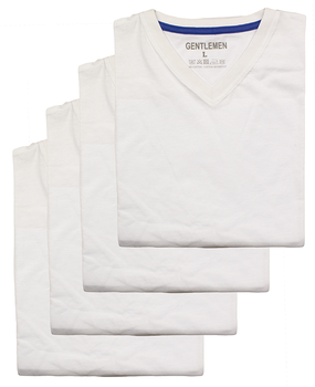 Heren t-shirts km Gentlemen 4-pak V-hals M t/m XXL