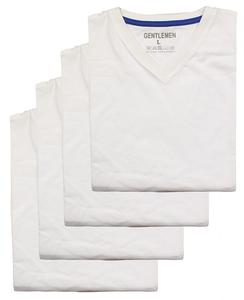Gentlemen Heren t-shirts km  4-pak V-hals M t/m XXL